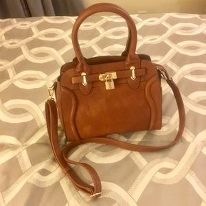 "Melie Bianco ""Madison Lock & Key"" Leather Handbag"